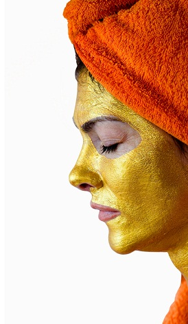gold facial at home